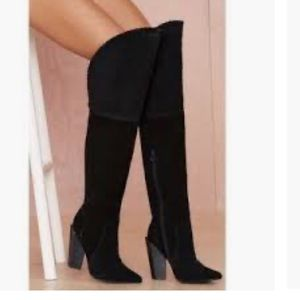 Jeff Campbell Thigh high suede boots